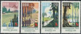 Allemagne Orientale 1969 Yv. N°1160 à 1163 - Protection Contre Les Incendies De Forêt - Neuf ** - [6] Democratic Republic
