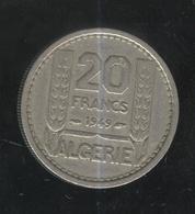 20 Francs Algérie Française 1949 - Algeria