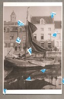Lier Foto Photo Oude Reproductie Binnenschip Op De Binnennete Rond 1900 Foto Op Karton 145 Mm X 215 Mm - Lier