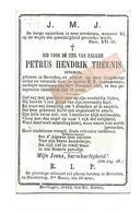 D 772. PETRUS THEUNIS - Jongman - +  BEVERLOO 1887 (78j.) - Images Religieuses