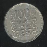 100 Francs Algérie Française 1952 - Algeria