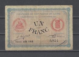 Chambre De Commerce De LURE  Billet De 1.00F - Chambre De Commerce