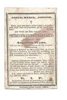 D 773. PETRUS GAUKENS Echtg. A. WYNS - BEVERLOO 1798 / 1878 - Devotion Images