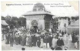 Marseille Exposition Coloniale, Marseille 1906 Pavillon De L' Amer Picon Scéance Cinématographique - Colonial Exhibitions 1906 - 1922
