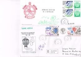T.A.A.F. TERRE ADELIE : 10 Plis Illustrés. - Collections, Lots & Series