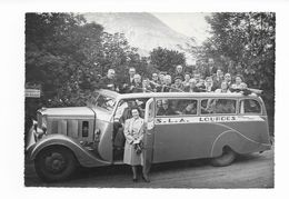 """Ancienne Autocar De Marque """"SAURER""""  Avec Toit Ouvrante  (années 1940/1950 ) TOP - Bus & Autocars"""