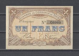 Chambre De Commerce De SENS   Billet De 1.00F - Cámara De Comercio