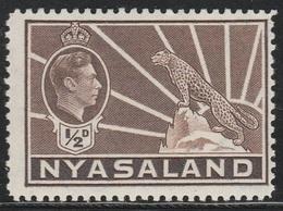 Nyasaland Protectorate 1938 - SG 1330a, 1/2d - Symbol Of The Protectorate - MNH - - Nyasaland (1907-1953)