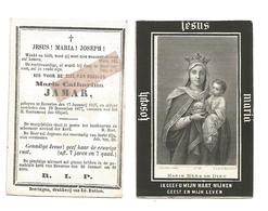 D 777. MARIA CATHARINA  JAMAR - °BEVERLOO 1825 En Aldaar + 1877 - Images Religieuses