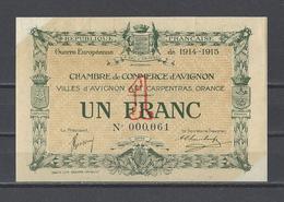 Chambre De Commerce D'AVIGNON  Billet De 1.00F - Chamber Of Commerce