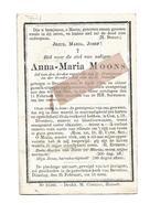 D 778. ANNA-MARIA MOONS - BEVERLOO 1826 / 1890 - Devotion Images