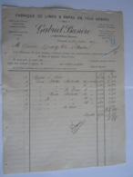 1897 Gabriel Busière Fabrique De Limes & Rapes à Péruwelz Facture Pour Gravez à Boussu - Belgium