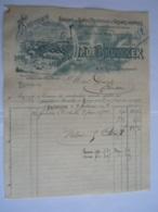 1897 P. De Bruycker Molenbeek St Jean Tréfilerie Fabrique De Ronces Artificielles Facture Pour Gravez à Boussu - Belgique