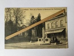 JODOIGNE»Place De La Victoire Et Monnument Des Combattants «animée,Café A.Dupont-Pierson (Édit MHL) - Jodoigne