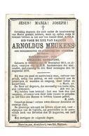 D 779. ARNOLDUS MEUKENS - Oud Burgemeester En Schepenen / Wed. A. Deprovins - BEVERLOO 1811 / 1876 - Devotion Images