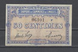 Chambre De Commerce De LIMOGES  Billet De 50c - Cámara De Comercio