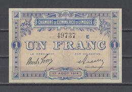 Chambre De Commerce De LIMOGES  Billet De 1.00F - Cámara De Comercio