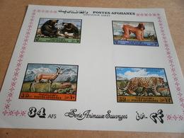 Miniature Sheet 1973 - Fauna, Animals, Imperf - Afghanistan