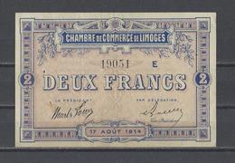 Chambre De Commerce De LIMOGES  Billet De 2.00F - Cámara De Comercio