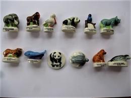 Série Complète 12 Fèves Brillantes Wwf Sauvons La Nature / 33NAT - Animals