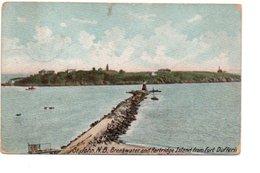 ST. JOHN. BREAKWATER AND PARTRIDGE ISLAND FROM FORT DUFFERIN. - St. John
