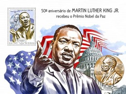 Guinea-Bissau, 2014. [gb14504] Martin Luther King, Jr. (s\s+bl) - Martin Luther King