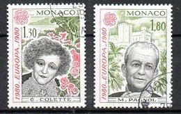 MONACO. N°1224-5 Oblitérés De 1980. Colette/Pagnol. - 1980