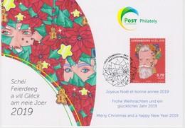 Luxembourg Christmas Card 2018 - Ornaments - Poinsettia - Postwaardestukken