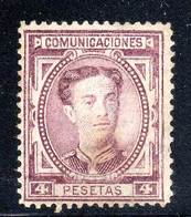 ESPAGNE - N°170 Nsg (1876) 4 Pesetas - Alphonse XII - Unused Stamps