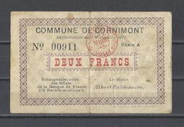 Bon Nécessité  Commune De CORNIMONT  Bon De 2.00F - Bonos