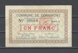 Bon Nécessité  Commune De CORNIMONT  Bon De 1.00F - Bonos