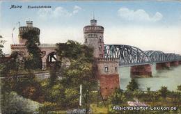 Ansichtskarte Mainz Eisenbahnbrücke 1940 - Mainz
