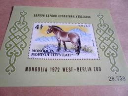 Miniature Sheets 1972 Przewalski's Wild Horse, Berlin Zoo - Mongolia