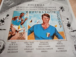 Miniature Sheets 1970 Football Olympics Mexico 68 And World Cup Mexico 70 - Chad (1960-...)