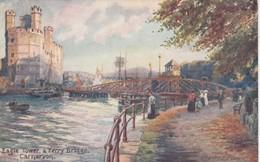 CARNARVON , Gwynedd, Wales  , 00-10s ; Eagle Tower & Ferry Bridge : TUCK 7949 - Wales