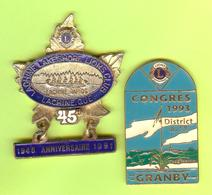 2 Gros Pin's Club Lions Lachine (Canot) Granby - #547 - Associations