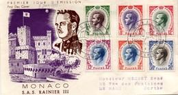 Monaco 1955 - FDC Série Rainier III - 6 Timbres - FDC