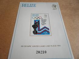 Miniature Sheets 1980 Lake Placid Torch Bearing - Belize (1973-...)