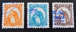 QUETZAL 1954/58 - YT 366D/E + 390 - Guatemala