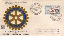 Casablanca Maroc 1955 - FDC Rotary - - Marokko (1891-1956)