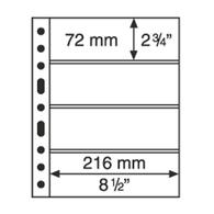 Leuchtturm Blankoblätter Klar Grande 4C (5 Stück Neu (N34 - Blankoblätter