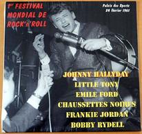LP 25 CM JOHNNY HALLYDAY ET AUTRES - 1er FESTIVAL MONDIAL DE ROCK - PALAIS DES SPORTS 61 - NEUF SOUS BLISTER - P 2017 - - Rock