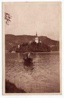 1930 YUGOSLAVIA, SLOVENIA, BLED, ISLAND VIEW FROM 'SUVOBOR', TPO MARIBOR-BEOGRAD NO12, BOAT - Yugoslavia