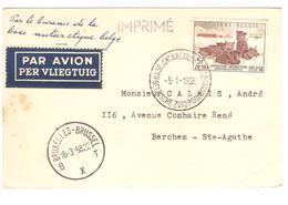 PR6534/ TP 1030 Chiens S/CP Avion C.Base Antarctique 5/1/1958 V.Berchem Ste Agathe C.d'arrivée BXL 16/3/1958 - Expéditions Antarctiques