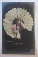 Frauen, Mode, Blumen, Er Liebt Mich-mit Schmerzen,  1907  ♥  (69117) - Mode