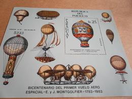 Miniature Sheets 1983 200 Years Of Balloon Flight - Paraguay