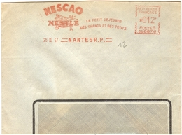 1957.02.26 Nantes Nestlé Nescao Petit Dejeuner Breakfast Ontbijt Birds Mest Vogels Voeding Feeding Alimentation Dieet - Poststempel (Briefe)