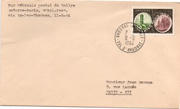 Andorre 1964 - Lettre Par Véhicule Postal Du Rallye Philatec Via Ax-les-Thermes - Andorre Français