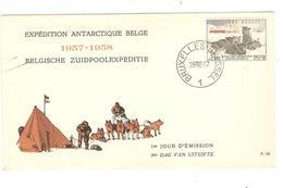 PR6535/ TP 1031 Chiens Surtaxe S/L.Expédition Antarctique Belge C.BXL 28/10/1957 - Expediciones Antárticas
