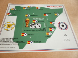 Miniature Sheets 1982 Spain World Cup Parts A And B - Paraguay